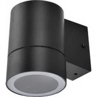 Светильник Ecola 1*GX53 LED 8003A IP65 прозрачный Цилиндр Черный 114х140х90