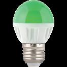 Лампа светодиодная Ecola globe LED 4.0W G45 220V E27 Green матовая колба 77х45