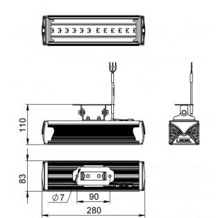 Светодиодный светильник L-12/1452/15/15/220/Д/OS/