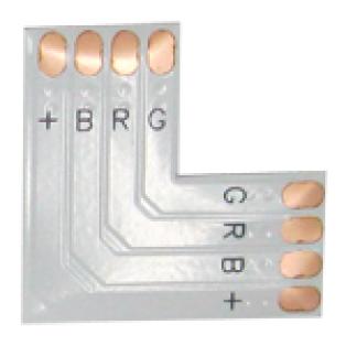 Гибкая соединительная плата L для зажимного разъема 4-х конт. 10мм