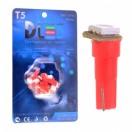 Автомобильная светодиодная лампа Т5-SMD5050 1Led 0,24Вт 12V красный
