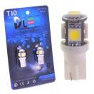 Автомобильная светодиодная лампа Т10-W5W-SMD5050 5Led 1,2Вт 12V
